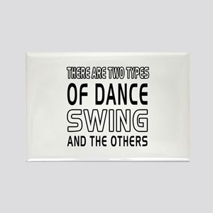 Swing Dance Designs Rectangle Magnet