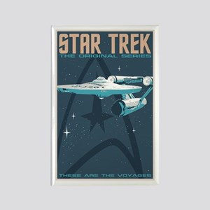 Retro Star Trek: TOS Poster Rectangle Magnet