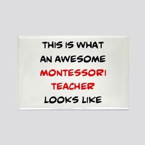 awesome montessori teacher Rectangle Magnet