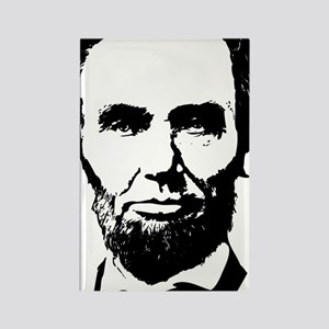 Abe Lincoln Silhouette Rectangle Magnet