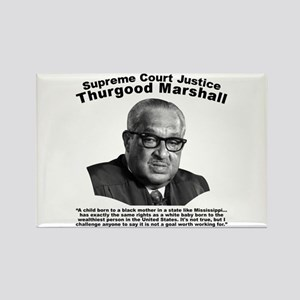 Thurgood Marshall: Equality Rectangle Magnet