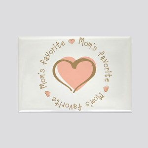 Mom's Favorite Girl Heart Rectangle Magnet