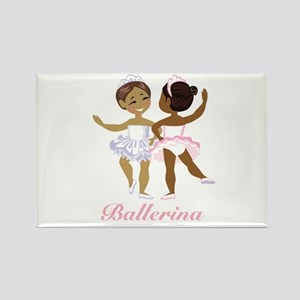 Ballerina (black) Rectangle Magnet
