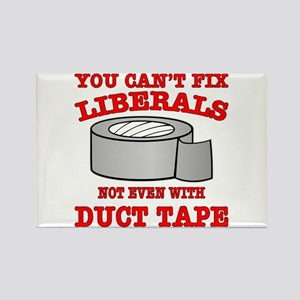 You Can't Fix Liberals Rectangle Magnet