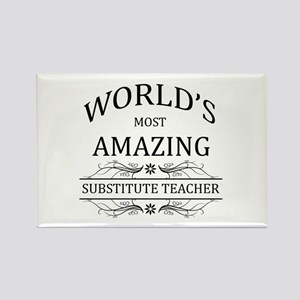 World's Most Amazing Substitute T Rectangle Magnet