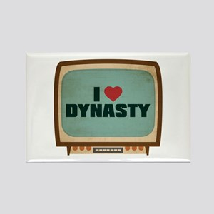 Retro I Heart Dynasty Rectangle Magnet
