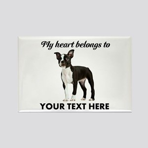 Personalized Boston Terrier Rectangle Magnet