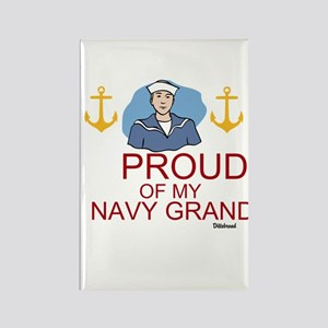 Proud Of My Navy Grandson Rectangle Magnet