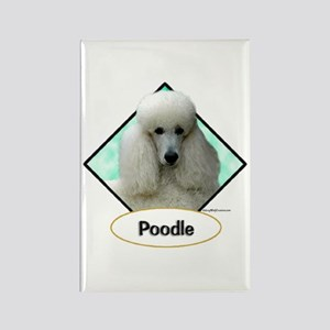 Poodle 4 Rectangle Magnet