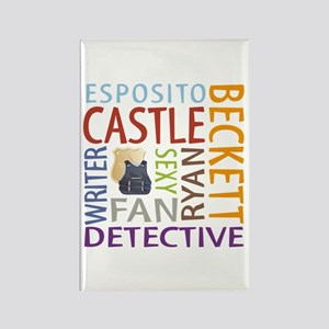 Castle Fan Rectangle Magnet