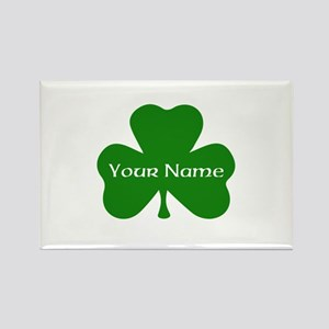 CUSTOM Shamrock with Your Name Rectangle Magnet