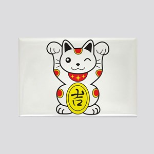Maneki neko Lucky Cat Rectangle Magnet