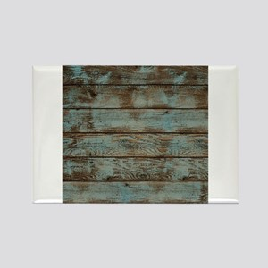 rustic western turquoise barn wood Rectangle Magne