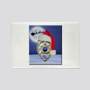 Law Enforcement Support Christmas Magnets