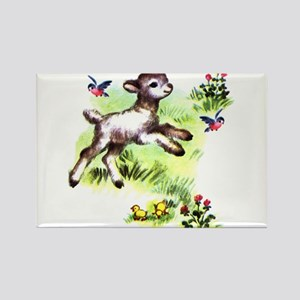 Cute Baby Lamb Sheep Rectangle Magnet