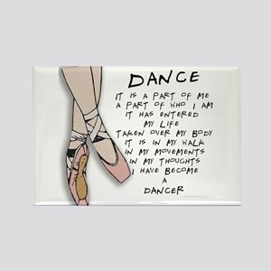 Dance Rectangle Magnet