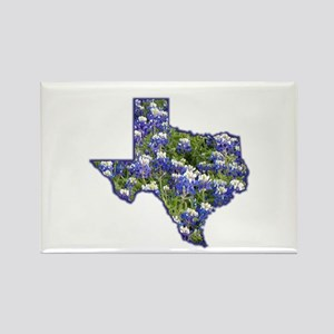TX Bluebonnets Rectangle Magnet