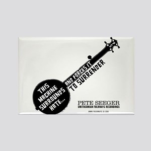 Pete Seeger Rectangle Magnet