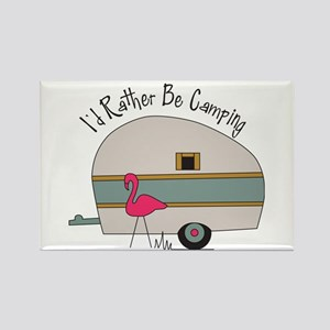 Id Rather Be Camping Rectangle Magnet