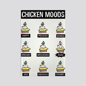 Chicken Moods Rectangle Magnet