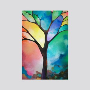 Tree of Light by Sally Trace Rectangle Magnet