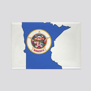 Minnesota Outline Map and Flag Magnets