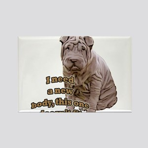 Shar Pei puppy Rectangle Magnet
