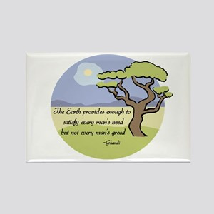 Ghandi Earth quote Rectangle Magnet
