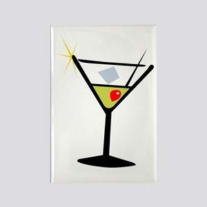 Martini Glass 1 Rectangle Magnet