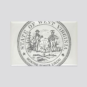 Vintage West Virginia Seal Rectangle Magnet