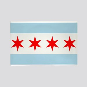 Chicago Flag Rectangle Magnet