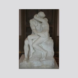 Rodin's The Kiss Rectangle Magnet