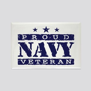 Proud Navy Veteran Rectangle Magnet