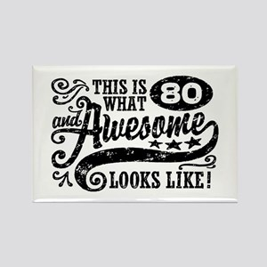 80th Birthday Rectangle Magnet