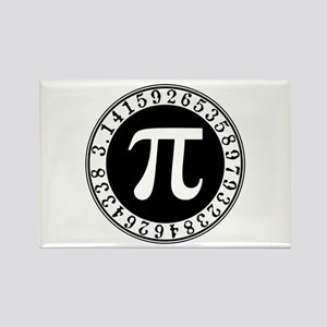 Pi sign in circle Magnets