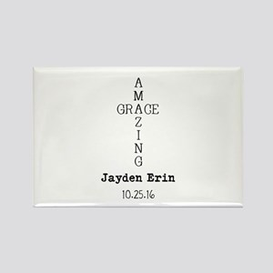 Amazing Grace Cross Custom Personalized Magnets