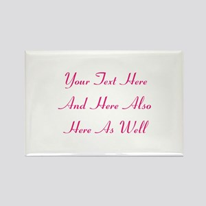 Customizable Personalized Text (F Rectangle Magnet