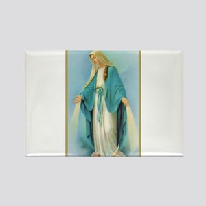 Virgin Mary Rectangle Magnet
