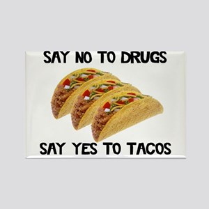 Funny Drugs Tacos Rectangle Magnet
