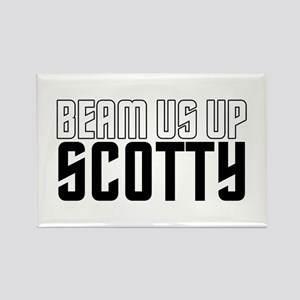 Beam Us Up Scotty Rectangle Magnet