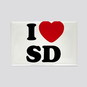 I Heart SD San Diego Rectangle Magnet