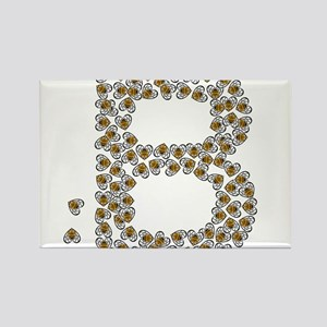 """B"" (made of bees) Rectangle Magnet"