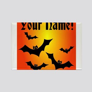 Personalized Halloween Bats Rectangle Magnet