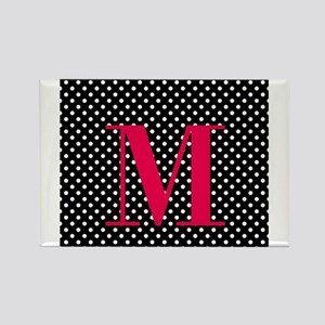 Personalizable White and Black Polka Dot Rectangle