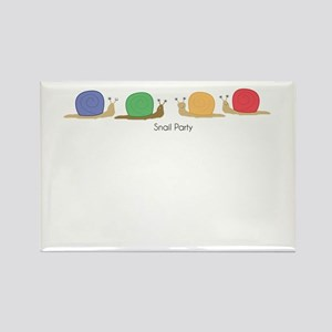 snail party Rectangle Magnet