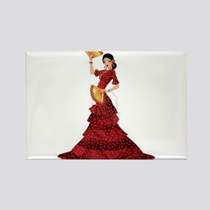 spanish flamenco dancer Magnets