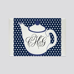Personalizable Teapot Monogram Magnets
