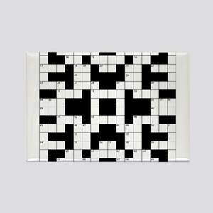 Crossword Pattern Decorative Magnets