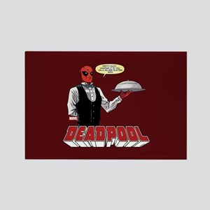 deadpool silver Rectangle Magnet