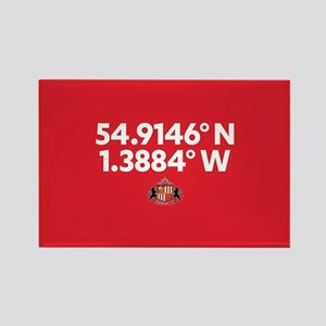 Sunderland Stadium Coordinates Fu Rectangle Magnet